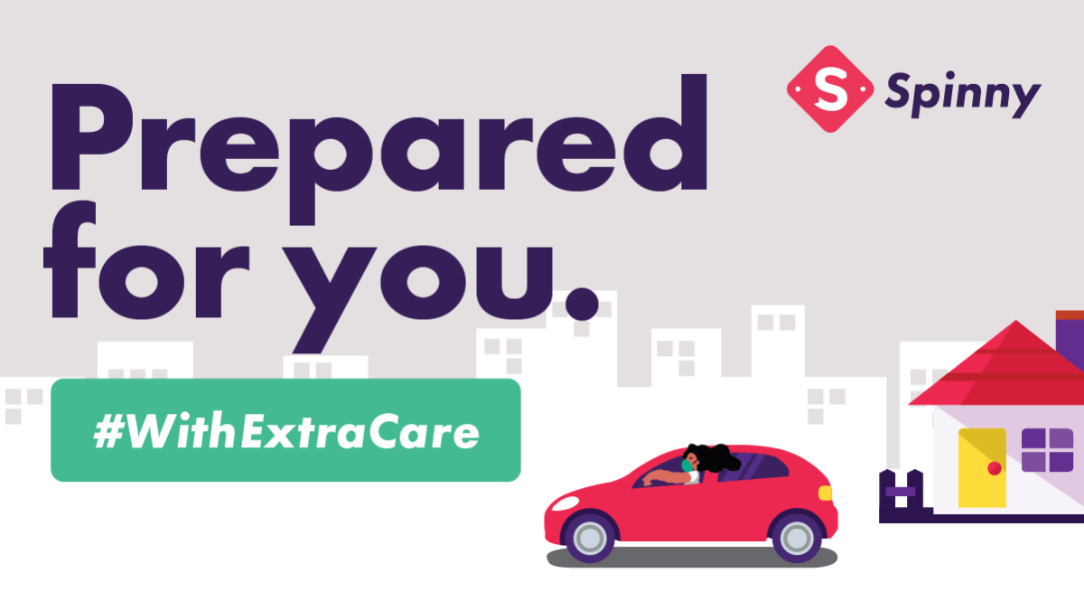 Spinny with Extra Care Prepared for You illustration