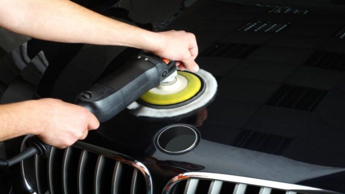 Illustration of car polishing